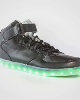 DNK Black Shoes Green LED